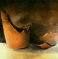 The Broken Terracotta Pot Print by Michelle Calkins