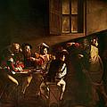 The Calling Of St Matthew by Michelangelo Merisi o Amerighi da Caravaggio