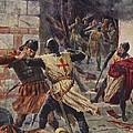 The Capture Of Constantinople by John Harris Valda