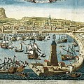 The City And Port Of Barcelona 18th C by Everett
