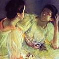 The Conversation by Mary Stevenson Cassatt