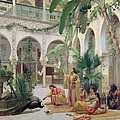 The Court Of The Harem Print by Albert Girard
