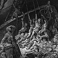 The Dead Sailors Rise Up And Start To Work The Ropes Of The Ship So That It Begins To Move by Gustave Dore
