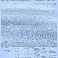 The Declaration Of Independence In Cyan by Rob Hans