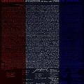 The Declaration Of Independence In Negative R W B by Rob Hans