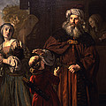 The Dismissal Of Hagar, 1650 by Jan Victors