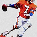The Drive  John Elway by Iconic Images Art Gallery David Pucciarelli