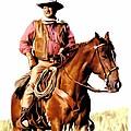 The Duke  John Wayne by Iconic Images Art Gallery David Pucciarelli