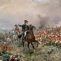 The Duke Of Wellington At Waterloo by Robert Alexander Hillingford