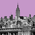 The Empire State Building Pantone African Violet Light by John Farnan