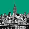 The Empire State Building Pantone Emerald by John Farnan
