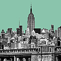 The Empire State Building Pantone Jade by John Farnan