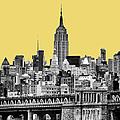 The Empire State Building Pantone Lemon by John Farnan
