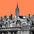The Empire State Building Pantone Nectarine by John Farnan