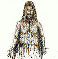The Faces Of  Body Of Jesus Christ by Thomas Lentz