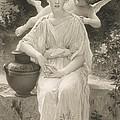 The First Whisper Of Love After Bouguereau by  John Douglas Miller
