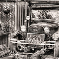 The Garage Sale Black And White by JC Findley