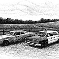 The General Lee And Barney Fife's Police Car by Janet King
