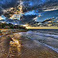 the golden hour during sunset at Israel Print by Ronsho