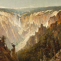The Grand Canyon of the Yellowstone Print by Thomas Hill