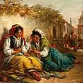 The Gypsies Print by Thomas Kent Pelham