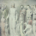 The Healing of the Woman with an Issue of Blood Poster by William Blake