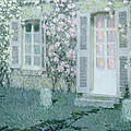 The House With Roses by Henri Eugene Augustin Le Sidaner