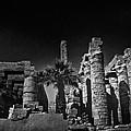 The Karnak Temple Bw by Erik Brede