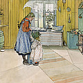 The Kitchen From A Home Series by Carl Larsson
