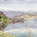 The Lake Of Lucerne, Mount Pilatus by John William Inchbold