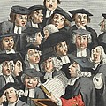 The Lecture, Illustration From Hogarth by William Hogarth