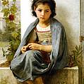 The Little Knitter by William Bouguereau