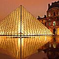 The Louvre By Night by Ayse Deniz