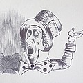 The Mad Hatter 1865 of Alice in Wonderland  Print by J D  Fields