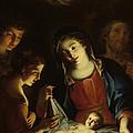 The Madonna Adoring The Infant Christ by Pietro Antonio Rotari