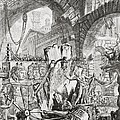 The Man On The Rack Plate II From Carceri D'invenzione by Giovanni Battista Piranesi