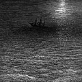 The Marooned Ship In A Moonlit Sea by Gustave Dore