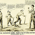 The National Game - Abraham Lincoln Plays Baseball by Digital Reproductions