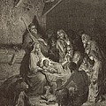 The Nativity by Antique Engravings