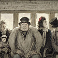 The Omnibus by Honore Daumier