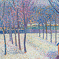The Orchard Under The Snow  by Hippolyte Petitjean