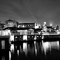 The Philadelphia Waterworks In Black And White by Bill Cannon