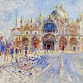 The Piazza San Marco by Pierre Auguste Renoir