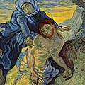 The Pieta After Delacroix 1889 by Vincent Van Gogh
