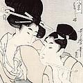 The Pleasure Of Conversation by Kitagawa Utamaro