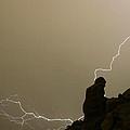 The Praying Monk Lightning Strike by James BO  Insogna