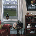 The Red Chair 1997 by Larry Preston