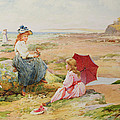 The Red Parasol by Alfred Glendening Jr