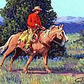 The Red Shirt Print by Randy Follis