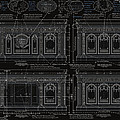 The Resolute Desk Blueprints- Black/white Line by Kenneth Perez